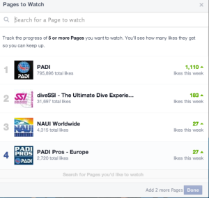 Facebook pages to watch setup