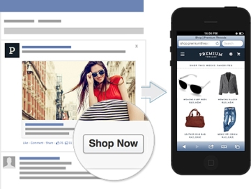 Facebook ad call to action button