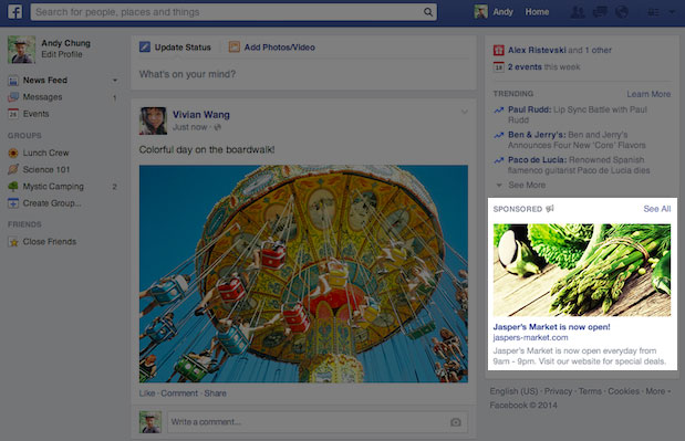 New Facebook right column Ad Format