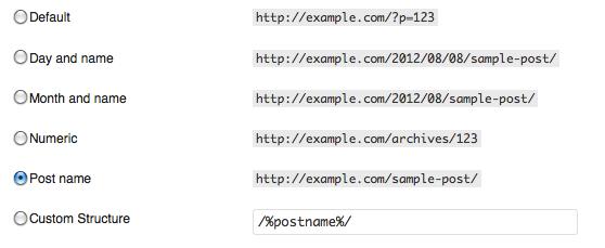 wordpress-permalink-options