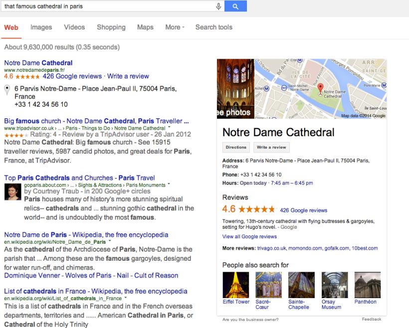 google semantic search example
