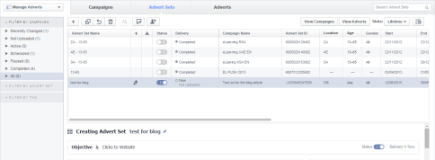 facebook power editor screen